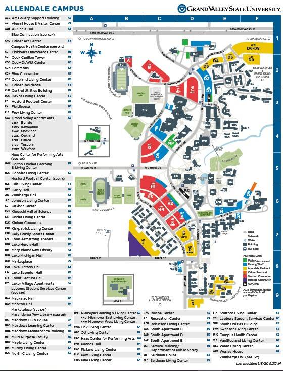 murray state university campus map Maps Pow Wow Grand Valley State University murray state university campus map